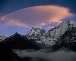 Wave Cloud over Kangtega & Thamserku Khumbu Himalaya, Nepal